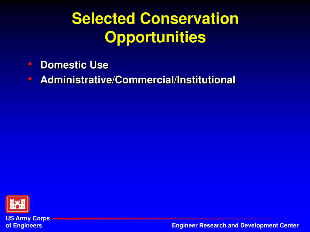 Selected Conservation Opportunities