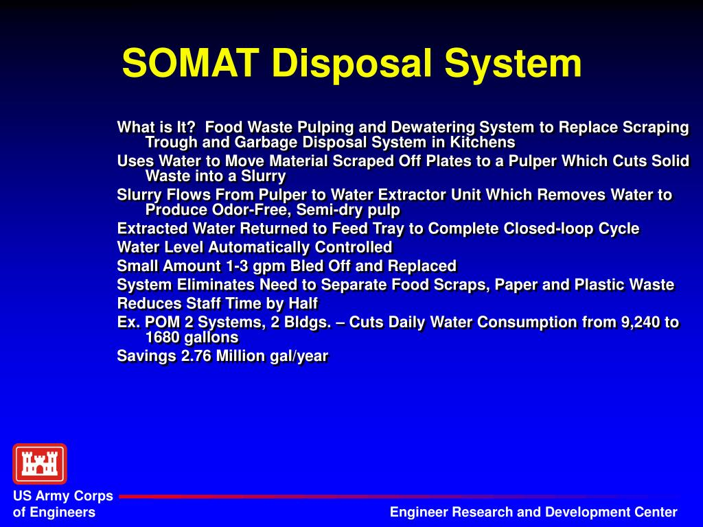 What is It?  Food Waste Pulping and Dewatering System to Replace Scraping Trough and Garbage Disposal System in Kitchens