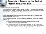 appendix 1 review by the bank of procurement decisions50