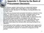 appendix 1 review by the bank of procurement decisions51