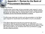 appendix 1 review by the bank of procurement decisions55