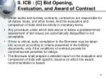 ii icb c bid opening evaluation and award of contract32