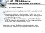 ii icb c bid opening evaluation and award of contract33