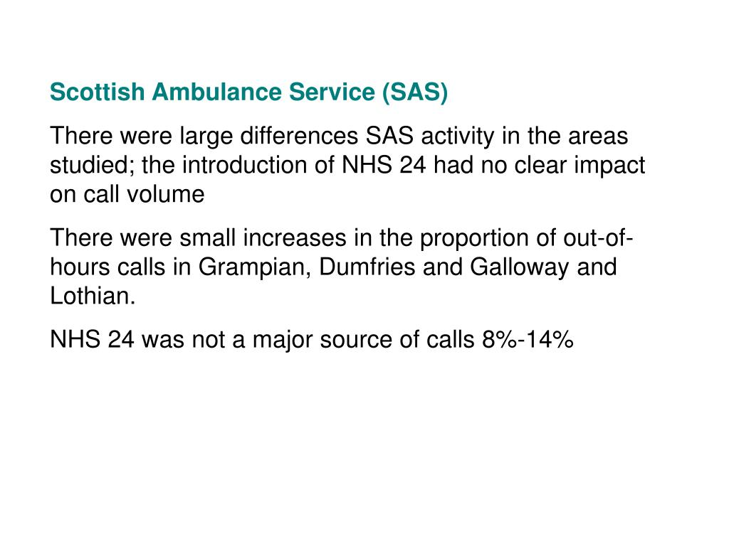 Scottish Ambulance Service (SAS)