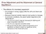 price adjustment and the attainment of general equilibrium