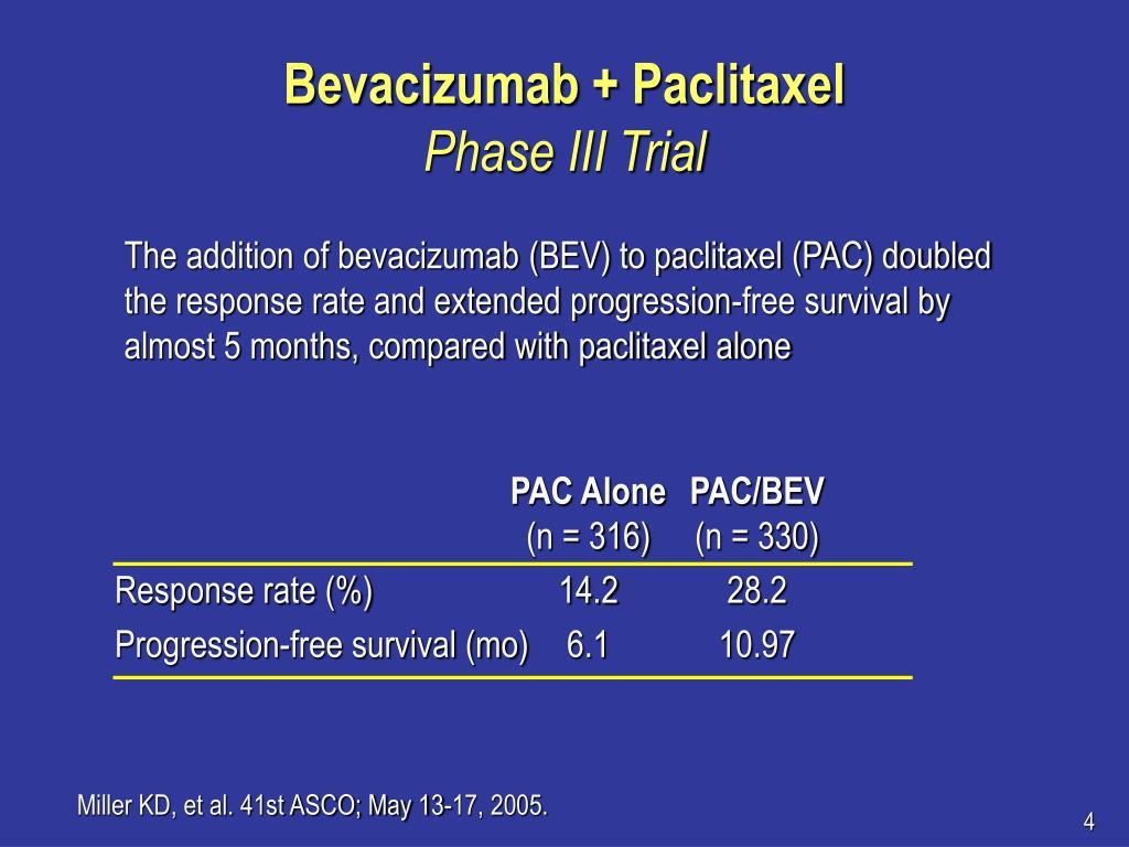 Bevacizumab + Paclitaxel