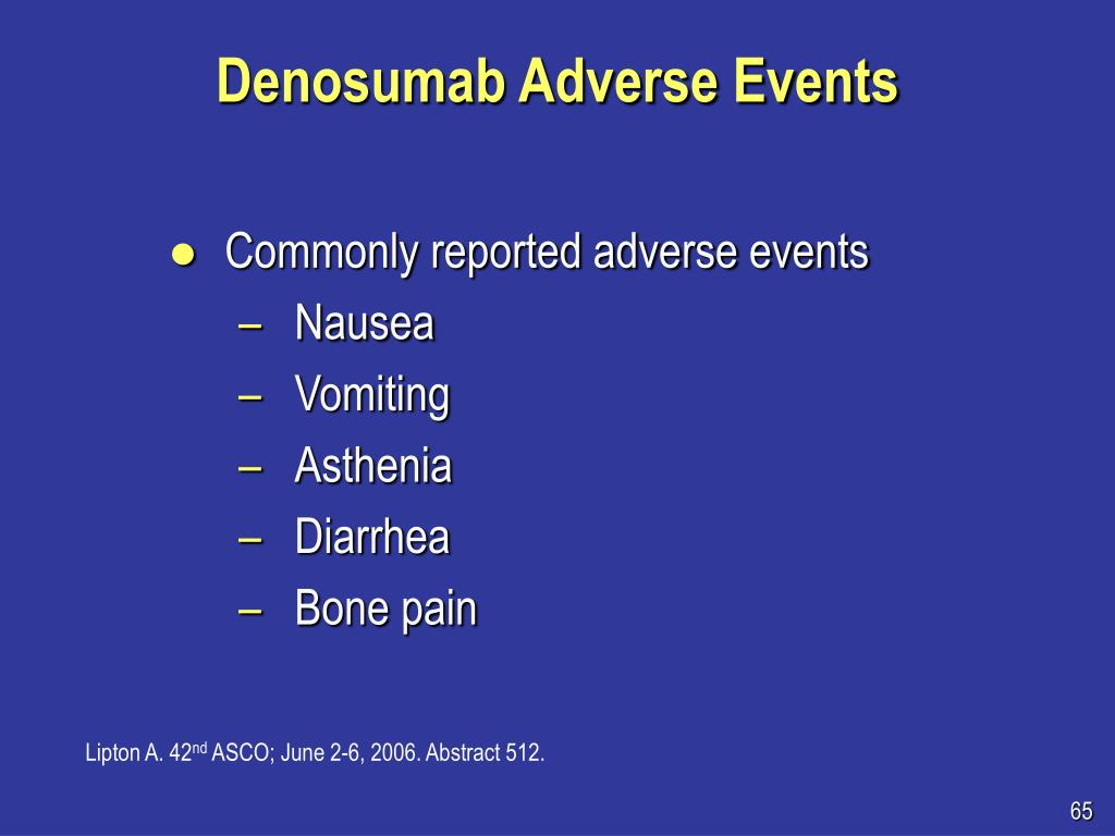 Denosumab Adverse Events