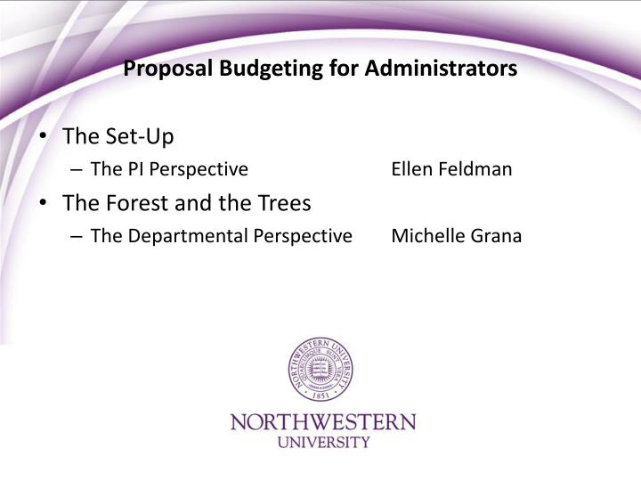 Proposal budgeting for administrators2