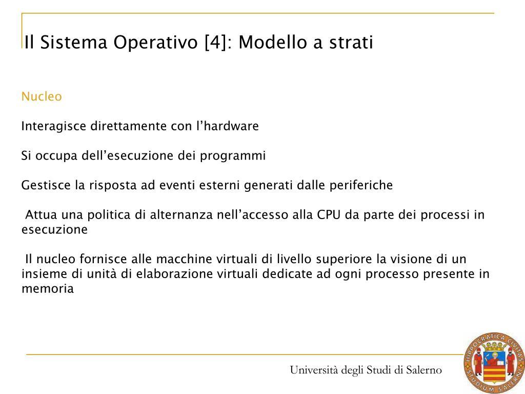 Il Sistema Operativo [4]: Modello a strati