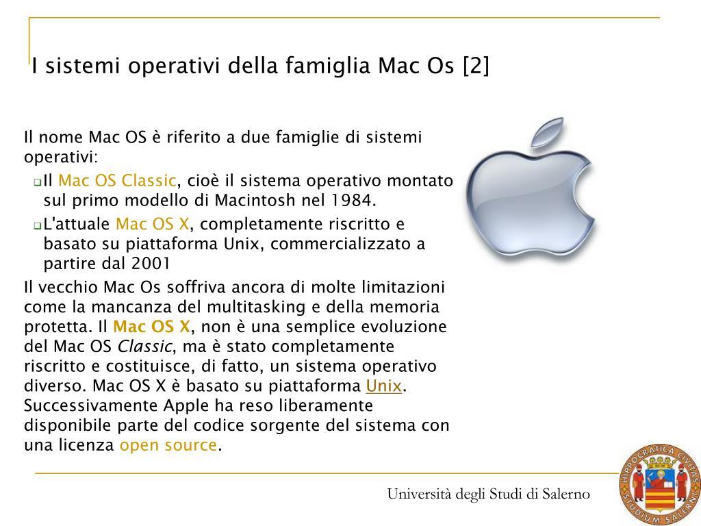 I sistemi operativi della famiglia Mac Os [2]