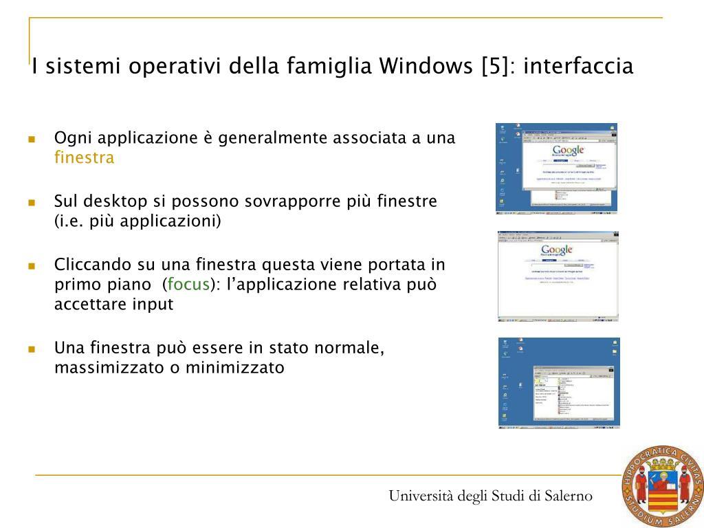 I sistemi operativi della famiglia Windows [5]: interfaccia