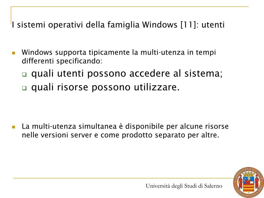 I sistemi operativi della famiglia Windows [11]: utenti