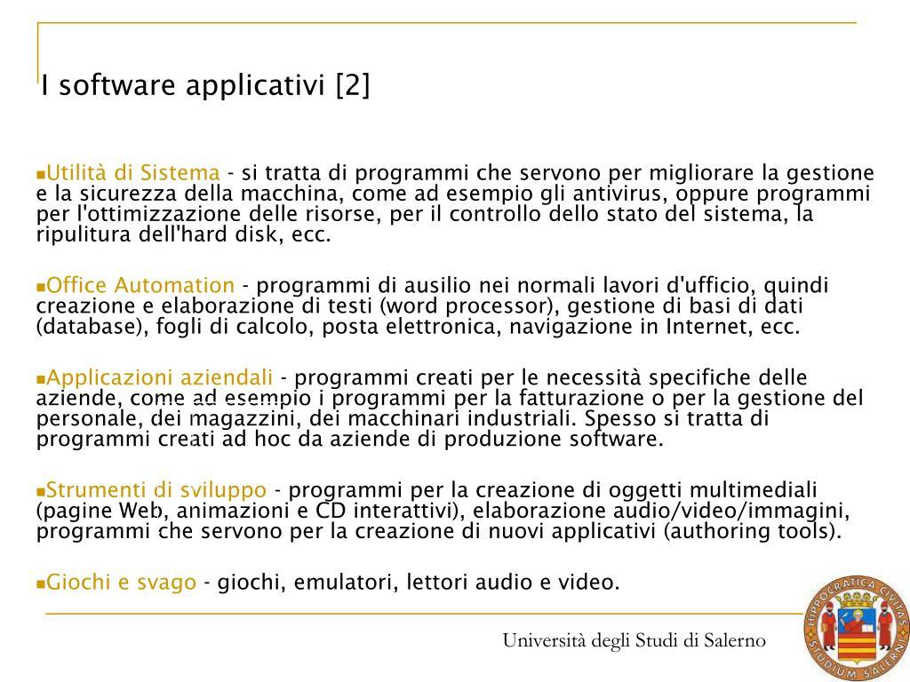 I software applicativi [2]