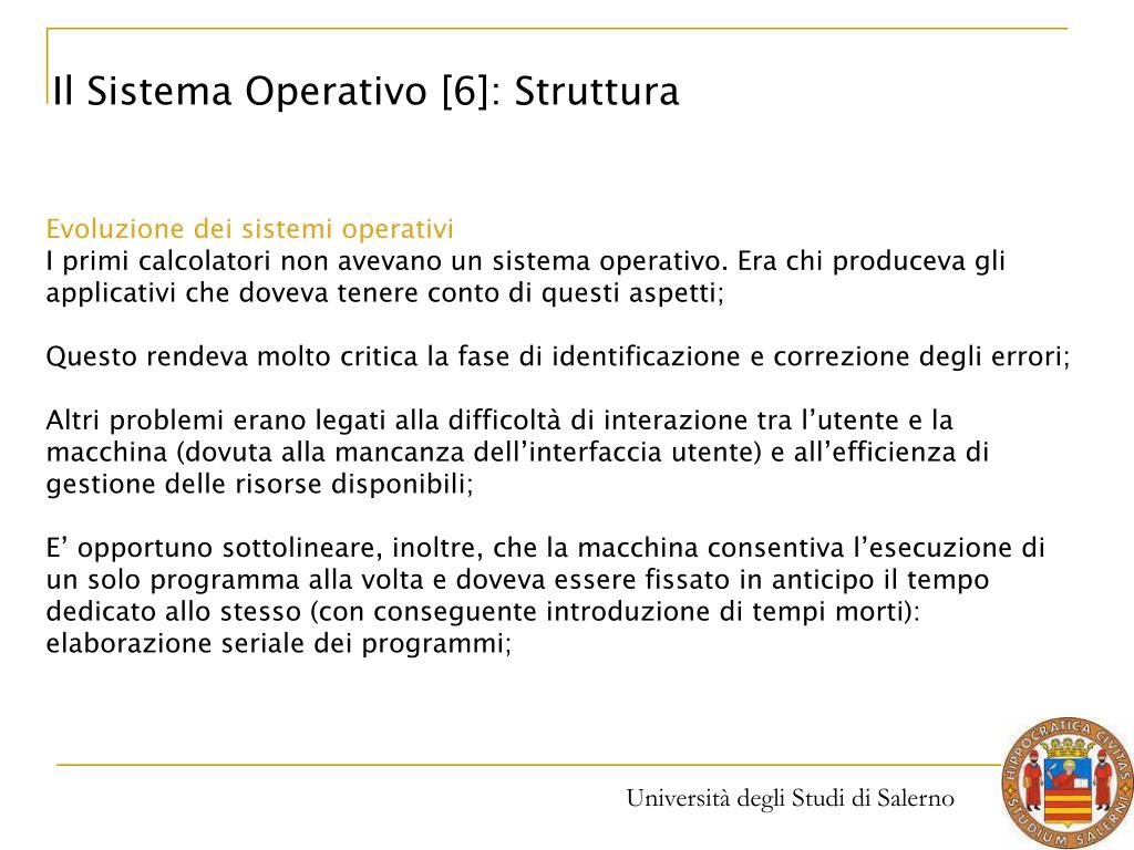 Il Sistema Operativo [6]: Struttura