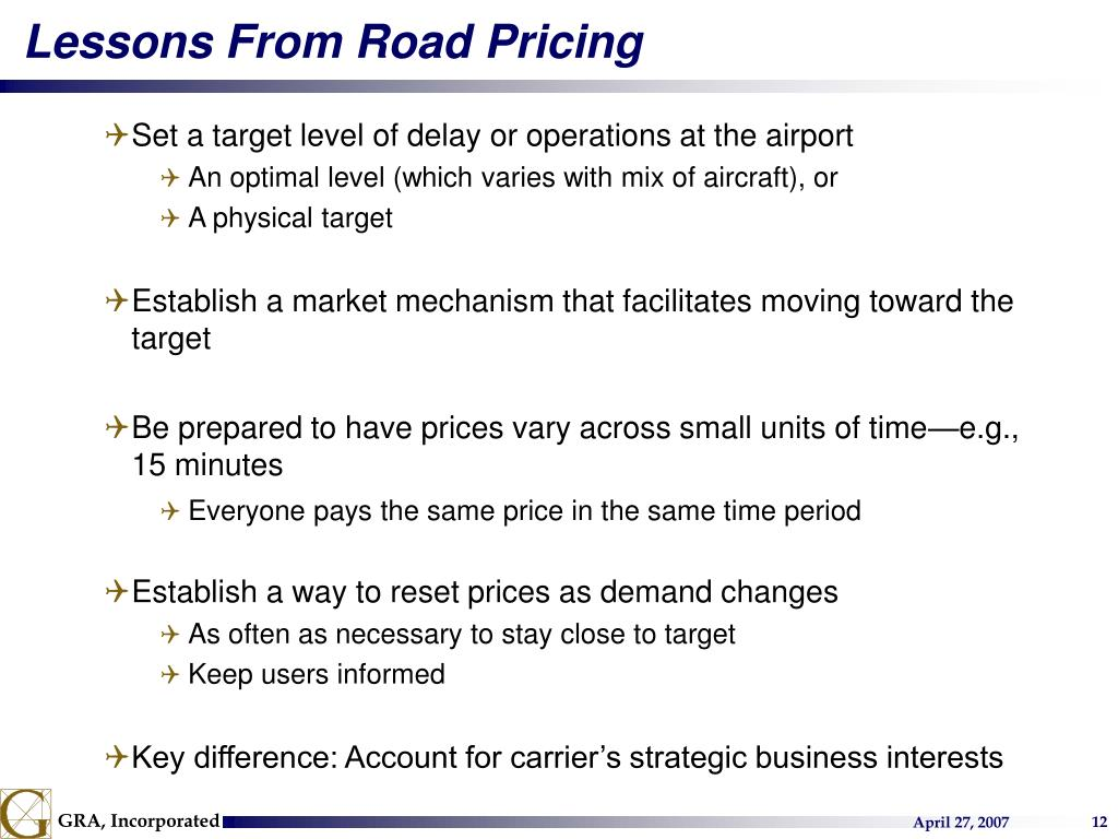 Lessons From Road Pricing