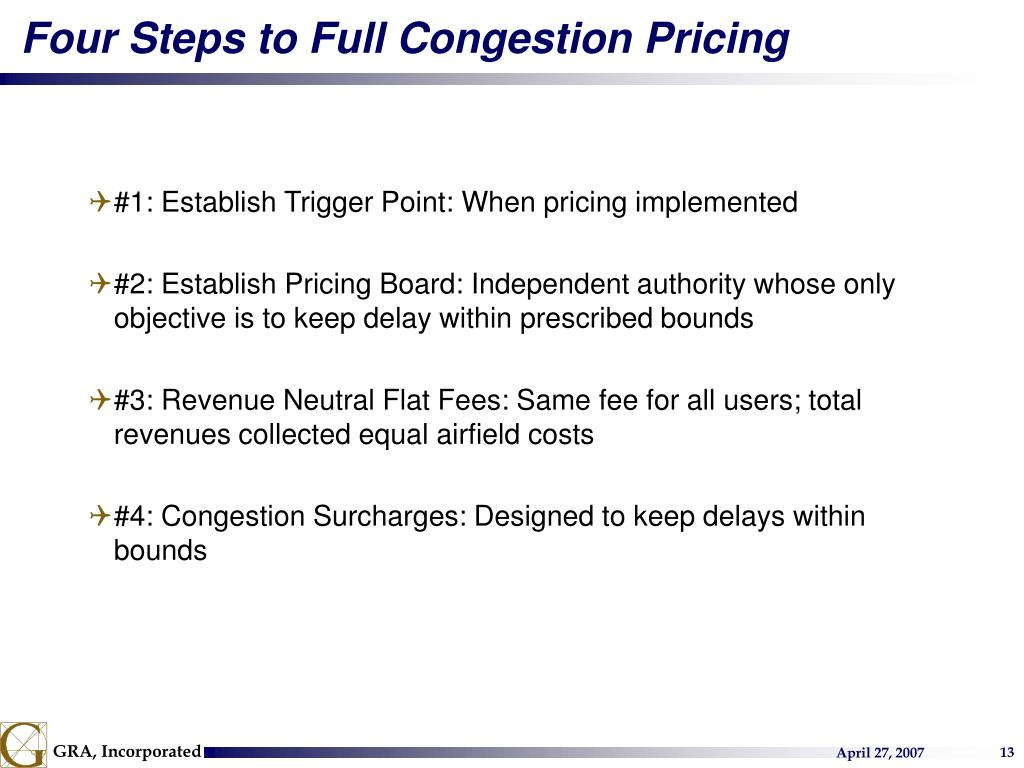 Four Steps to Full Congestion Pricing