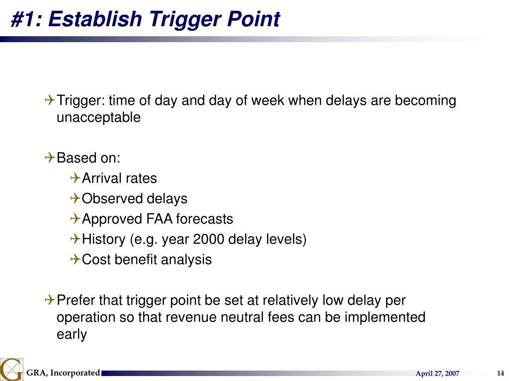 #1: Establish Trigger Point