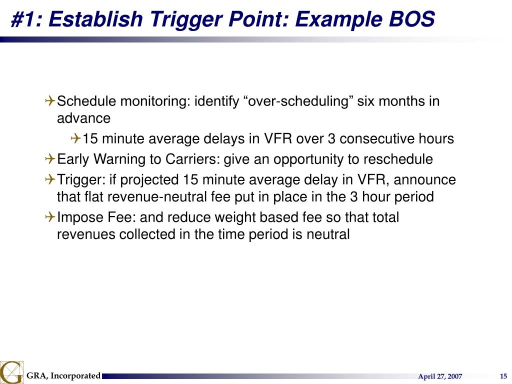 #1: Establish Trigger Point: Example BOS