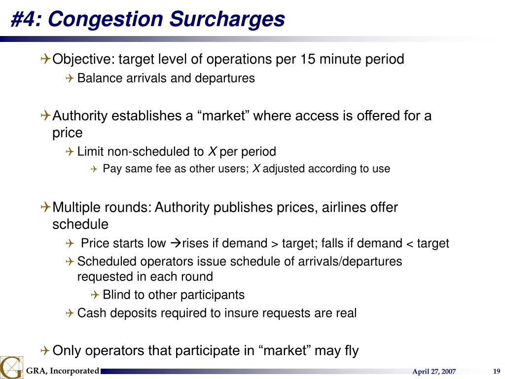 #4: Congestion Surcharges