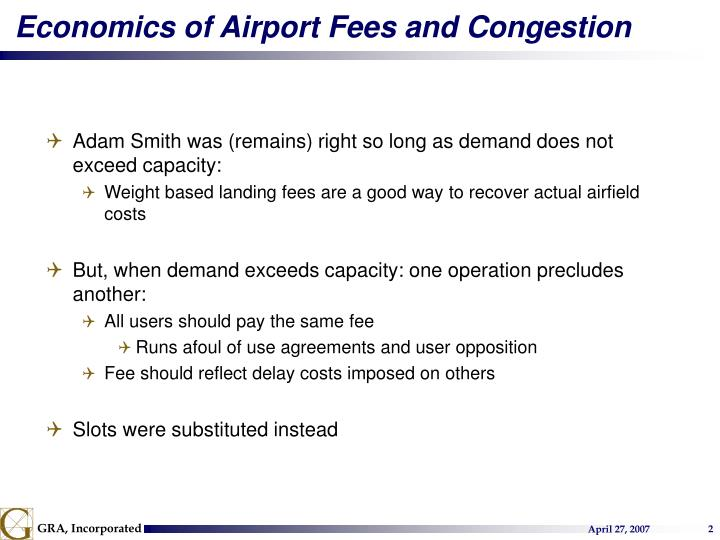 Economics of Airport Fees and Congestion