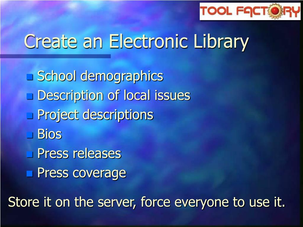 Create an Electronic Library