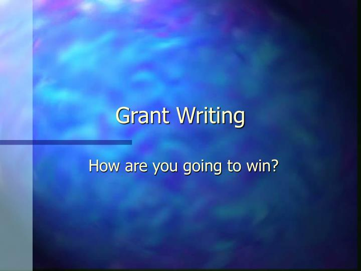 grant writing n.