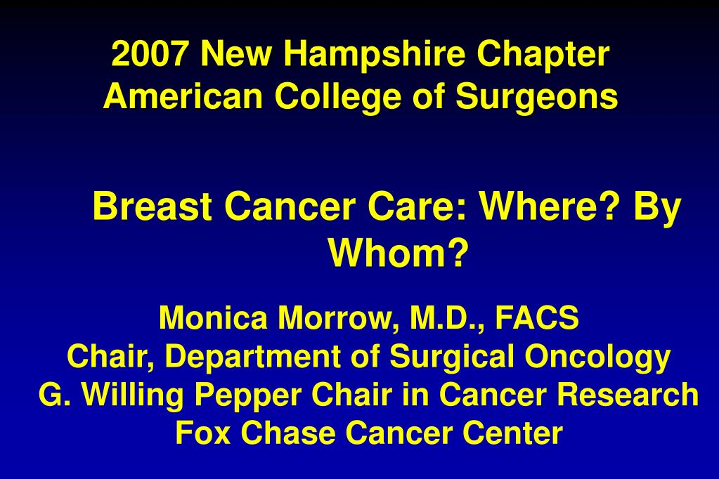 2007 new hampshire chapter american college of surgeons l.