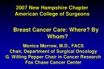 2007 new hampshire chapter american college of surgeons