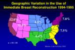 geographic variation in the use of immediate breast reconstruction 1994 1995