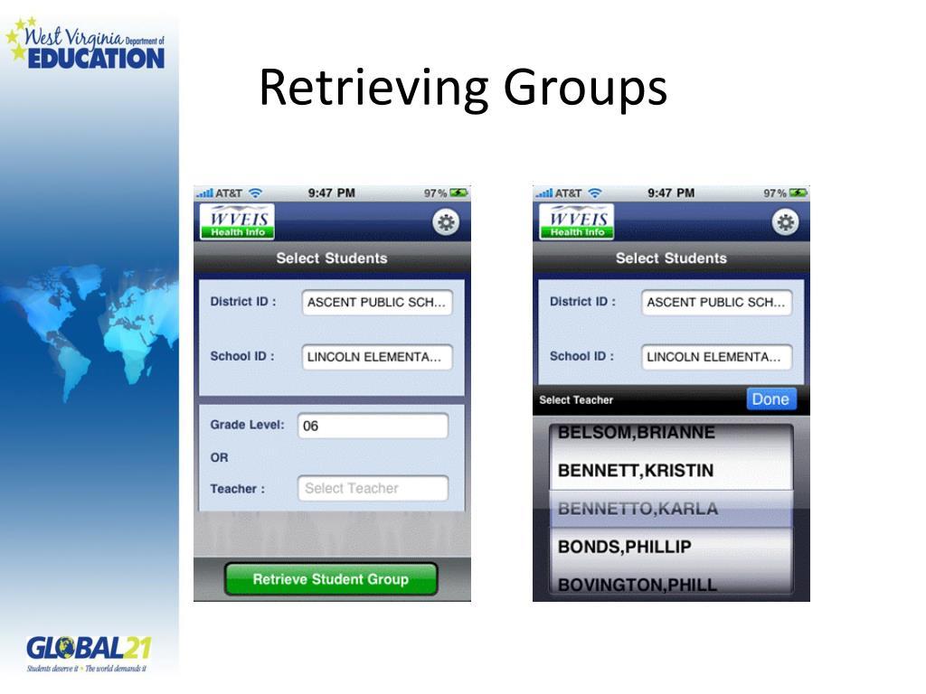 Retrieving Groups