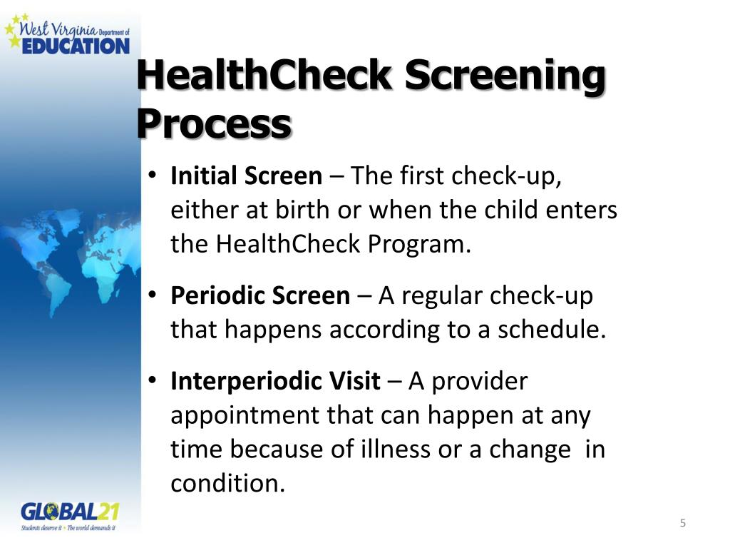 HealthCheck Screening Process
