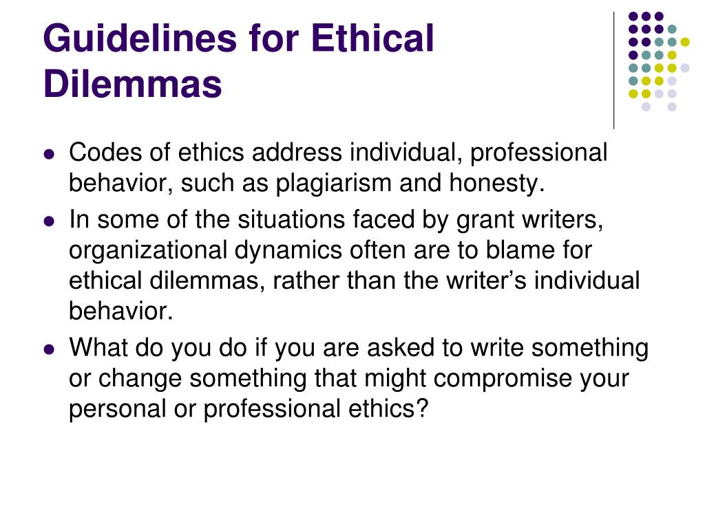 Guidelines for Ethical Dilemmas