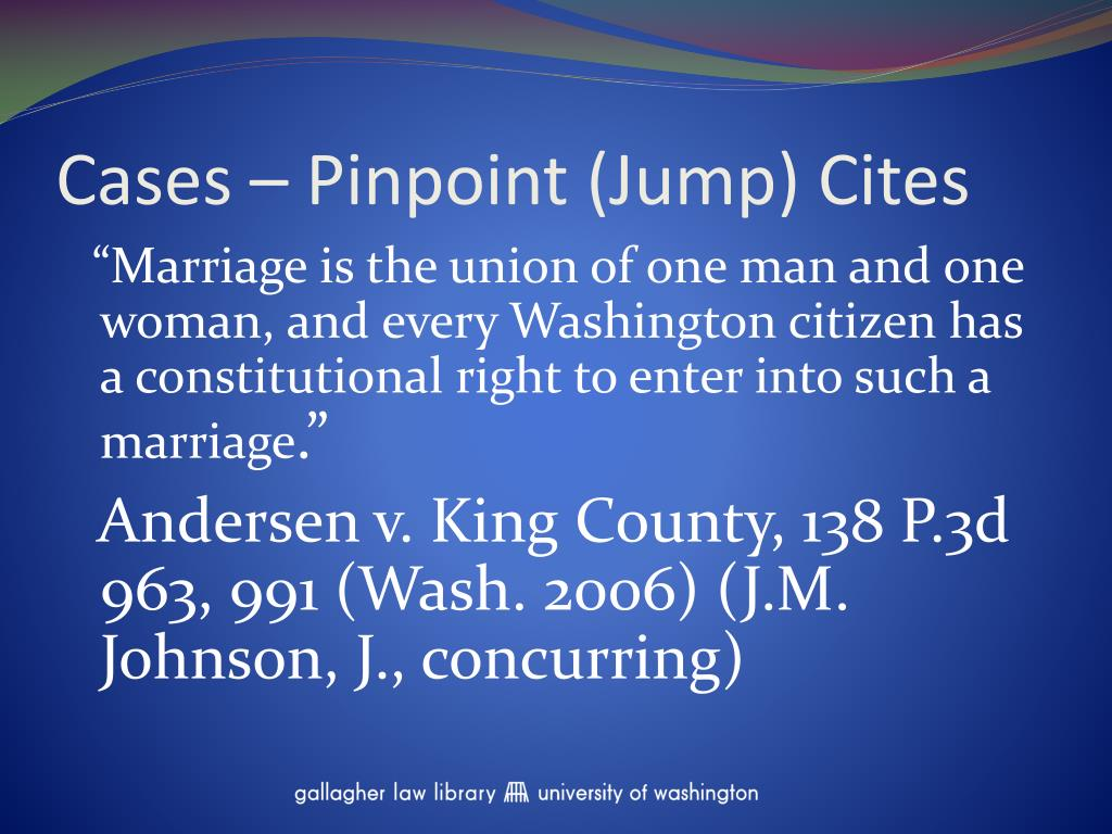 Cases – Pinpoint (Jump) Cites