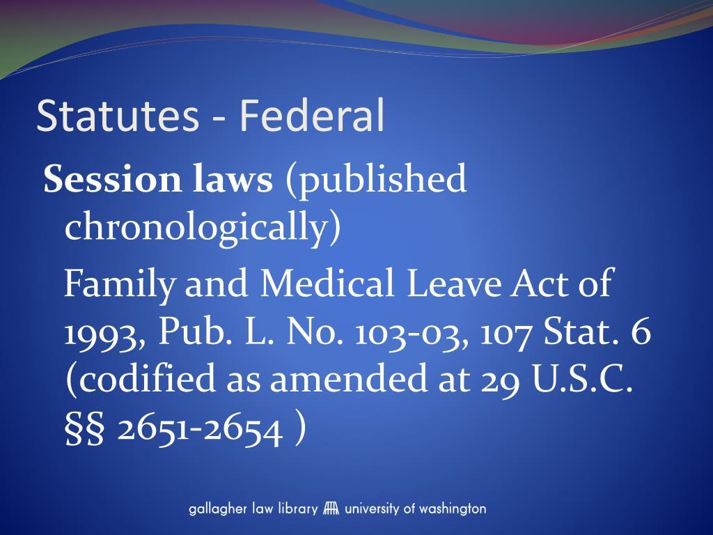 Statutes - Federal