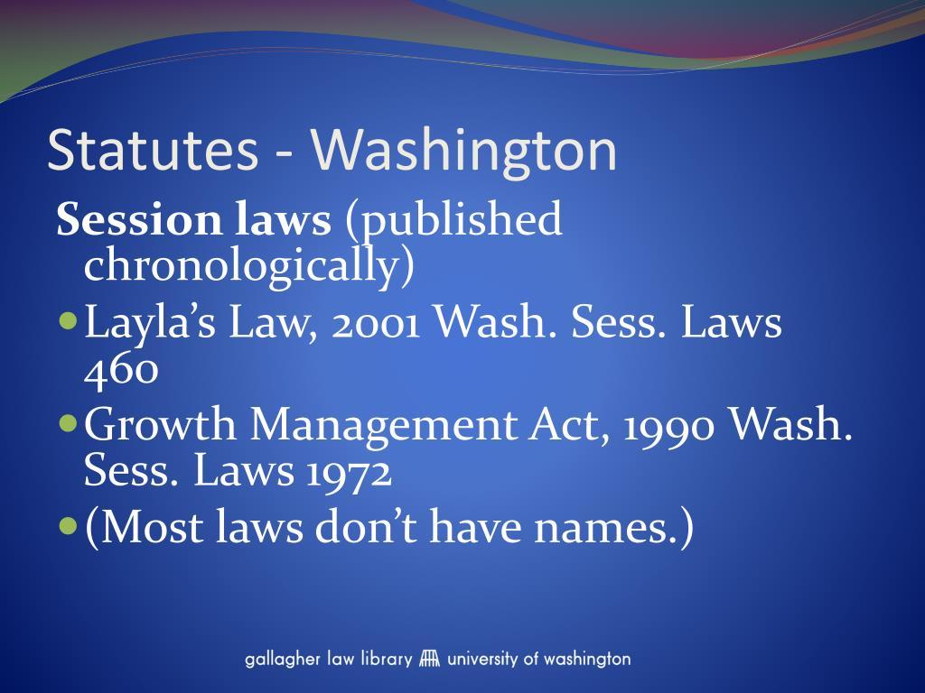 Statutes - Washington