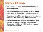 arraylist efficiency