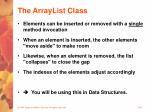 the arraylist class36