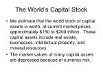 the world s capital stock