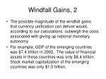 windfall gains 2