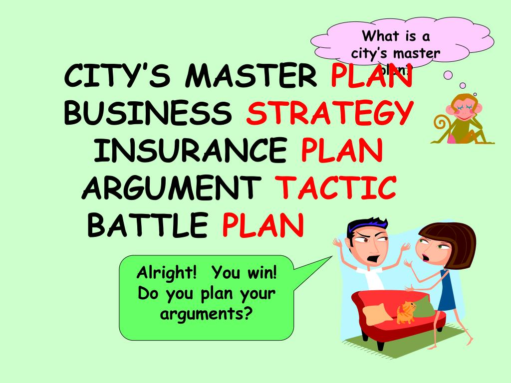 What is a city's master plan?