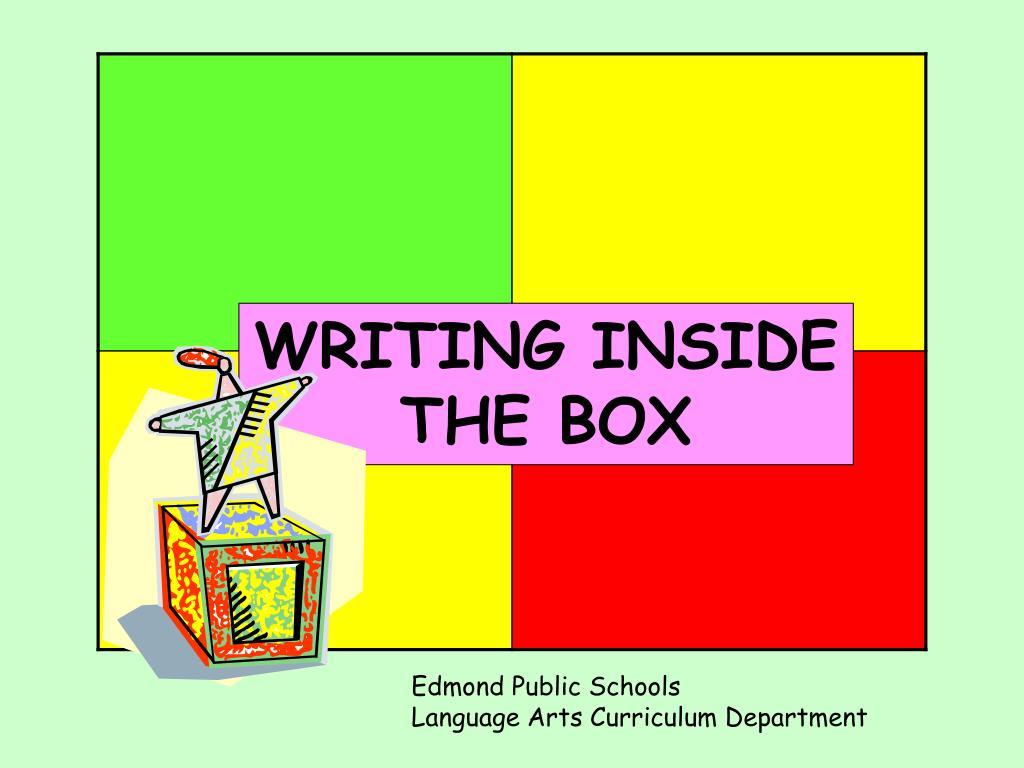 WRITING INSIDE THE BOX