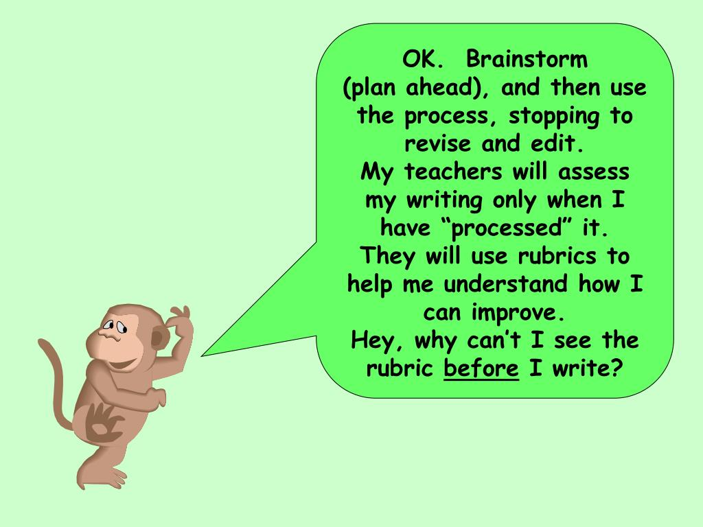OK.  Brainstorm