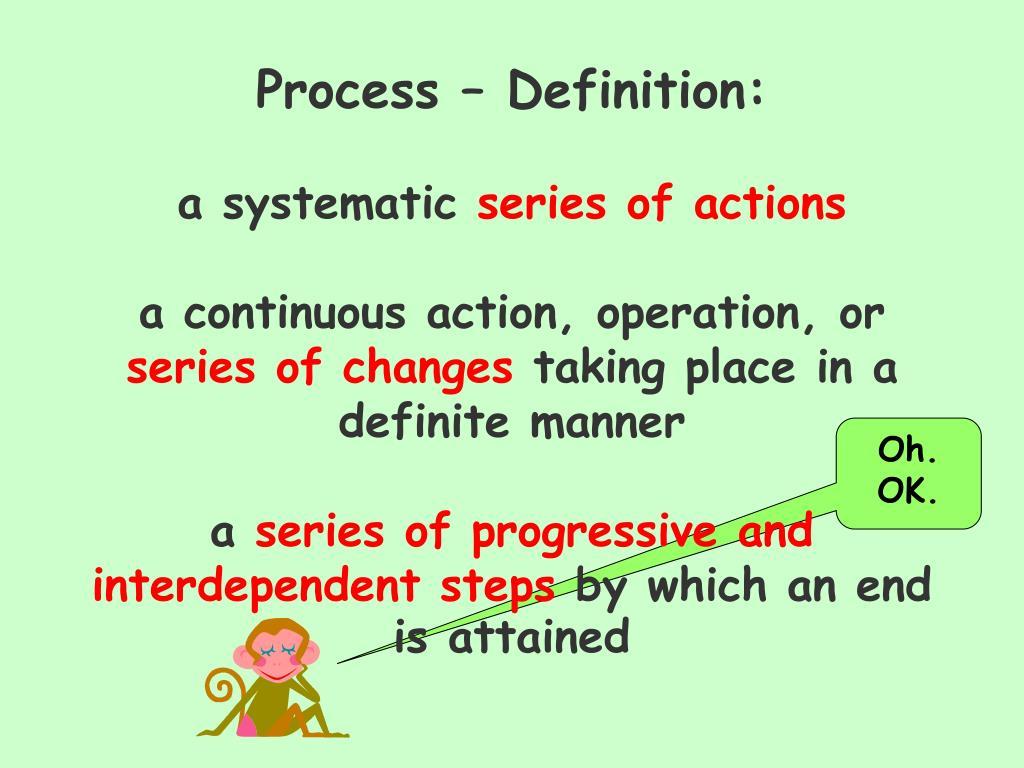Process – Definition: