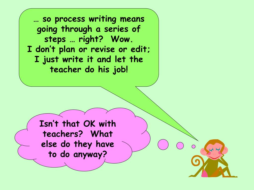 … so process writing means going through a series of steps … right?  Wow.