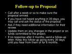 follow up to proposal
