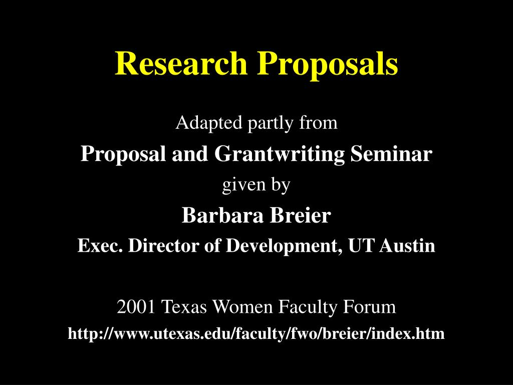 research proposals