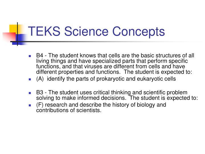 Teks science concepts