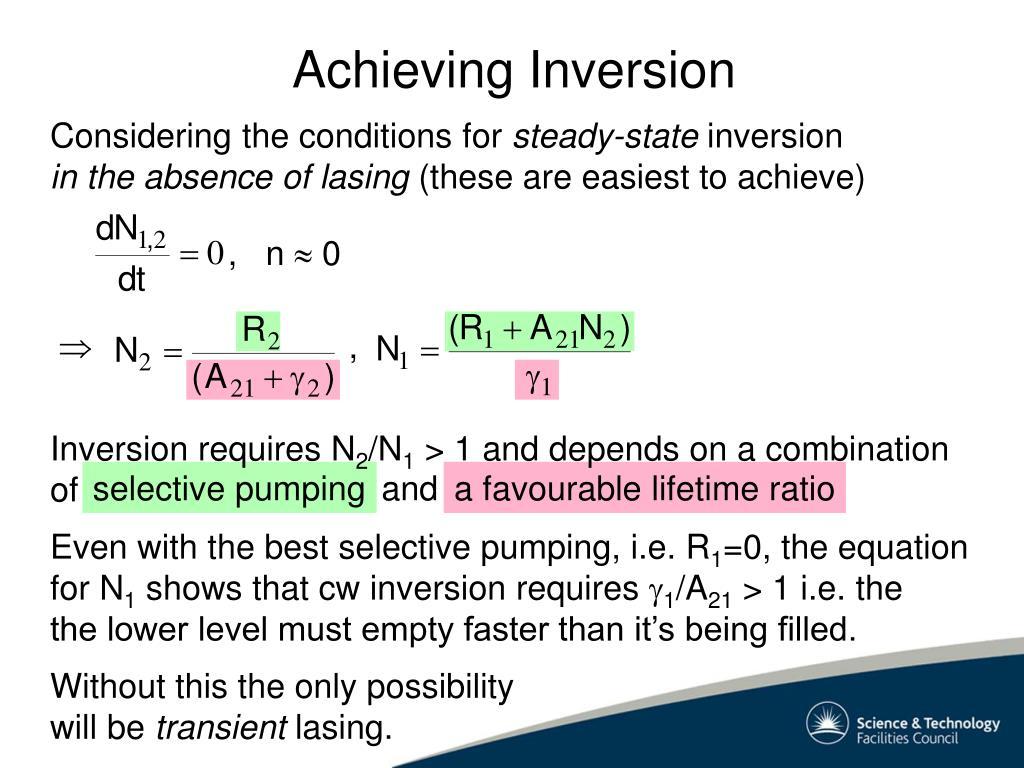 Achieving Inversion