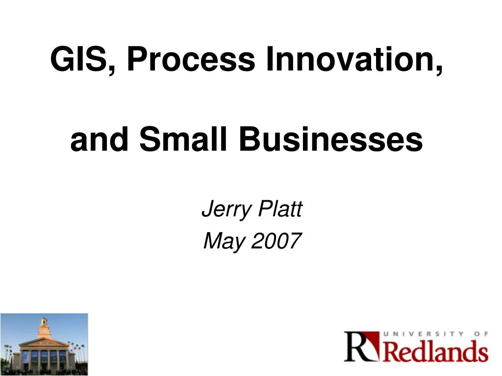 GIS, Process Innovation,