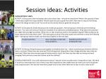 session ideas activities14